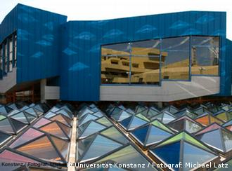 The colorful roof of a building at the University of Konstanz