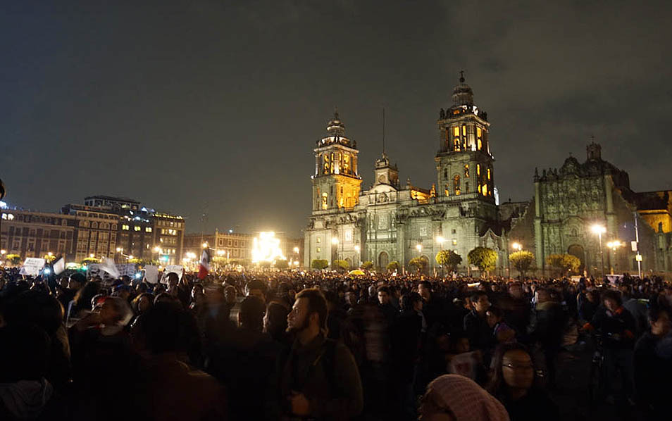 Close to 100,000 people gathered on the Zocalo on Nov. 20, but this time not so much to celebrate Dia de la Revolution as to protest their government's callousness and inaction on the murders of 43 students in the state of Guerrero, and their lack of action on the plague of cartel violence that has cursed their nation.