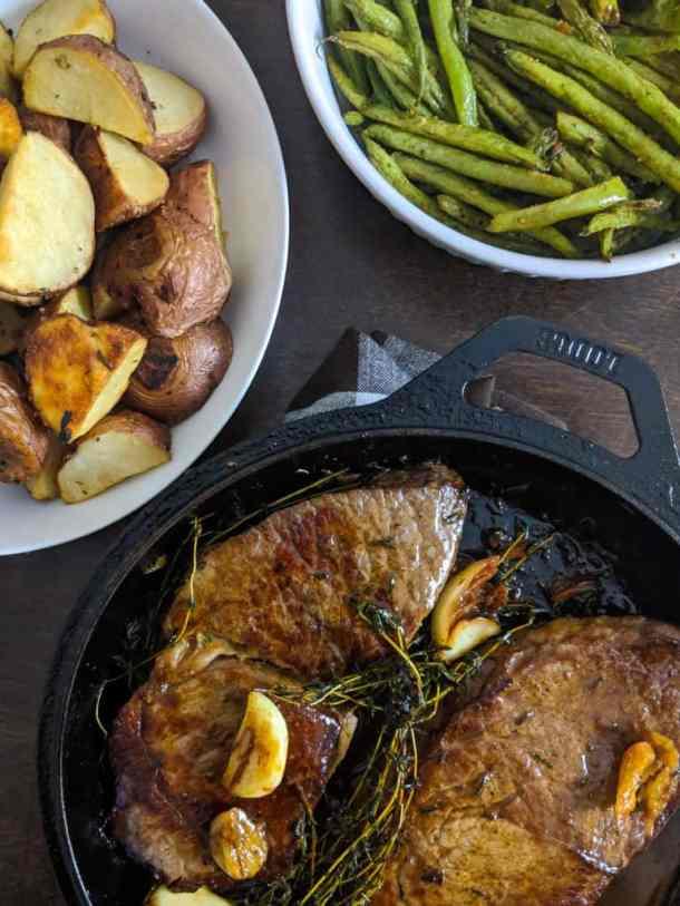 Pan-seared Garlic Herb Steak