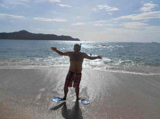 Ed Snorkling in Costa Rica