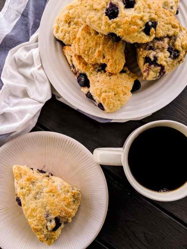 Dwardcooks Blueberry Scones - Baked