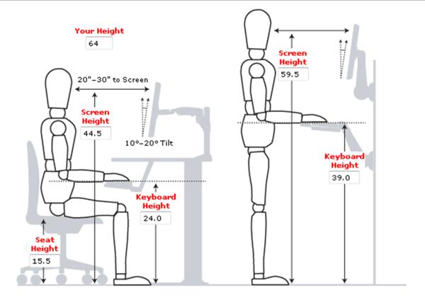 computer ergonomics diagram computer ergonomic guidelines