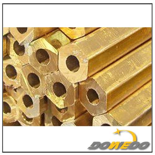 Hexagonal Round Brass Pipes