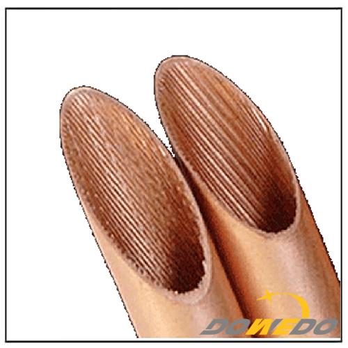C12200 C11000 C12000 Oval Copper Inner Grooved Tubes