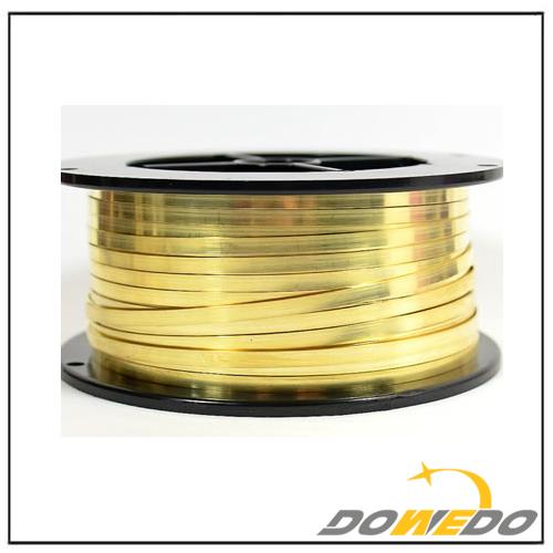 Spool Flat Brass Wire
