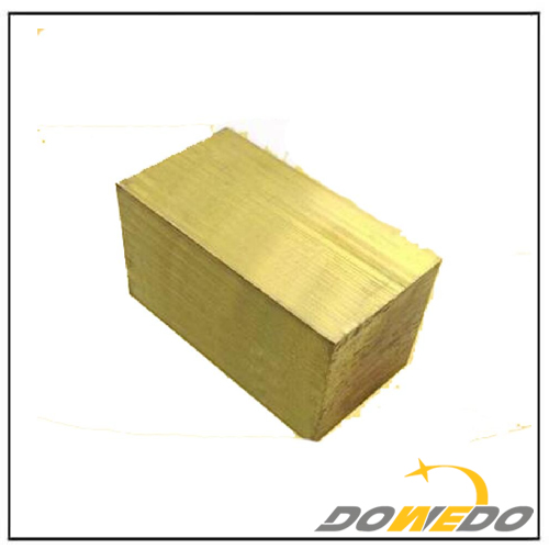 Square Solid Brass Block