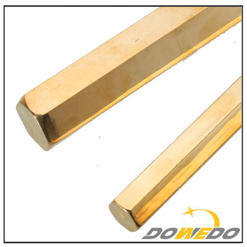 Hollow Brass Hex Rods