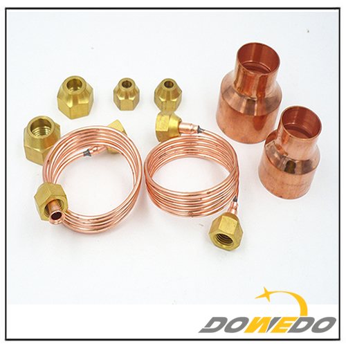 Copper Capillary Tube with Nuts