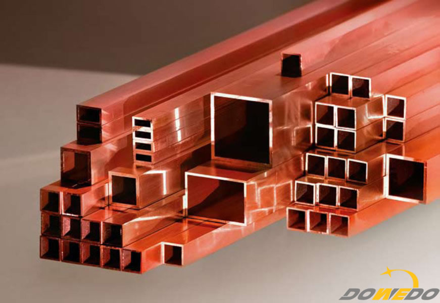 Copper square and rectangular tubes