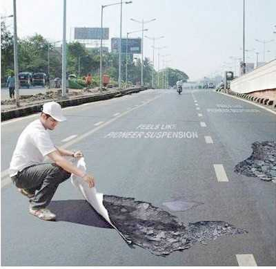 Potholes to reduce speeding? 3