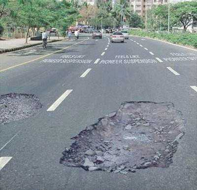 Potholes to reduce speeding? 1