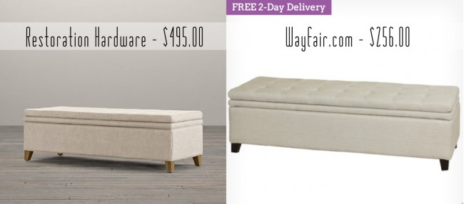 how do you like this another virtually identical find from wayfaircom same tufting on the top same exact build and style right down to the wooden legs - Restoration Hardware Bedroom Furniture