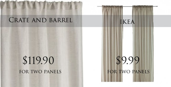 Shower Curtains crate and barrel shower curtains : Get the Look for Less: Crate and Barrel Living Room - Dwell Beautiful