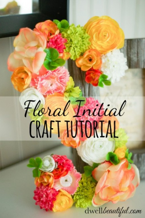floral initial craft tutorial