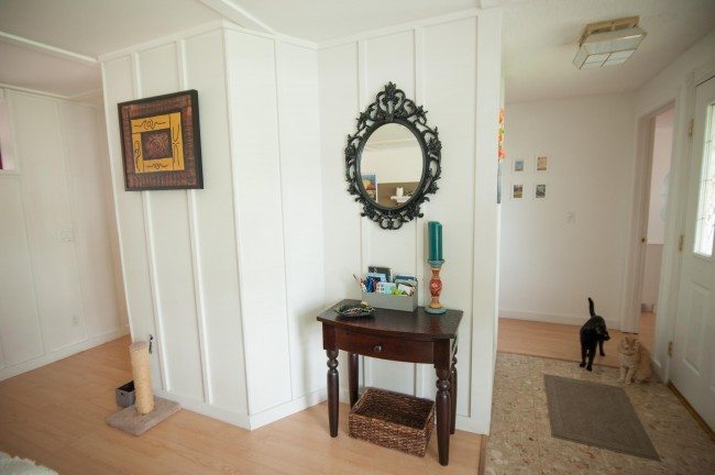 house tour cottage entryway drop zone
