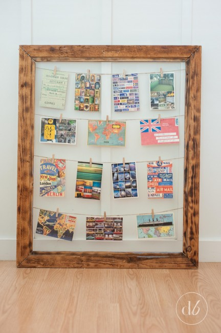 Clothespin Photo Display Frame - Dwell Beautiful