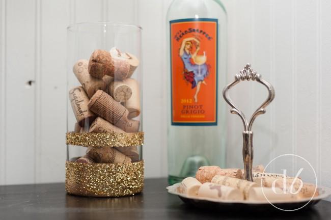 glitter vase craft