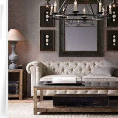 Restoration Hardware Living Room Dark Gray Leather Furniture Get The Look For Less Dwell Rh