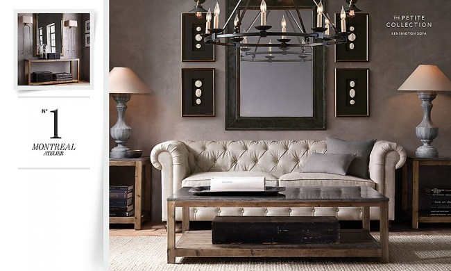 Ive Done One For A Restoration Hardware Bedroom So I Thought Would Try My Hand At An RH Living Room This Is The Was Inspired By In Their Online