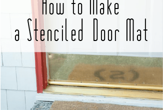 stenciled door mat