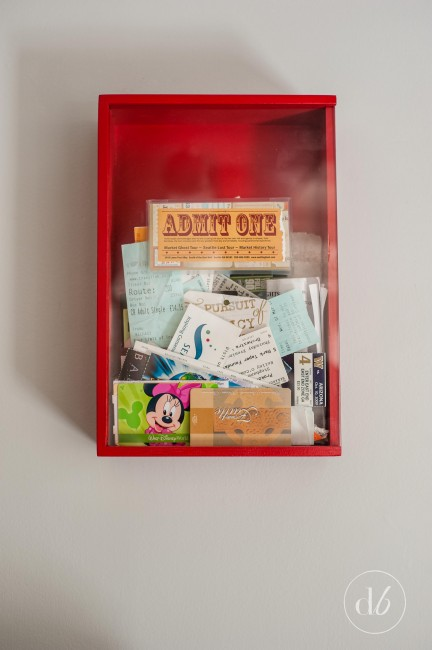 ticket stub memory box