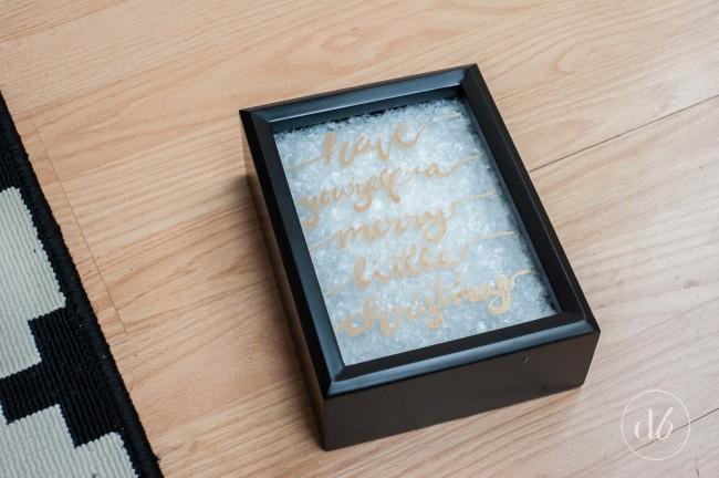 Christmas shadow box