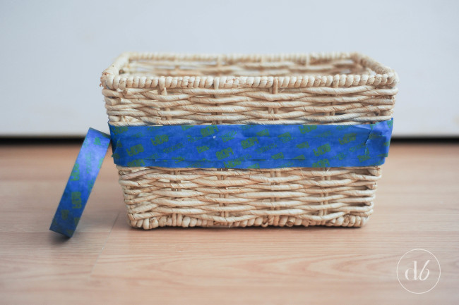 diy ombre basket