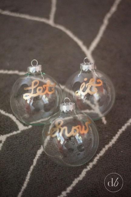 let it snow ornaments