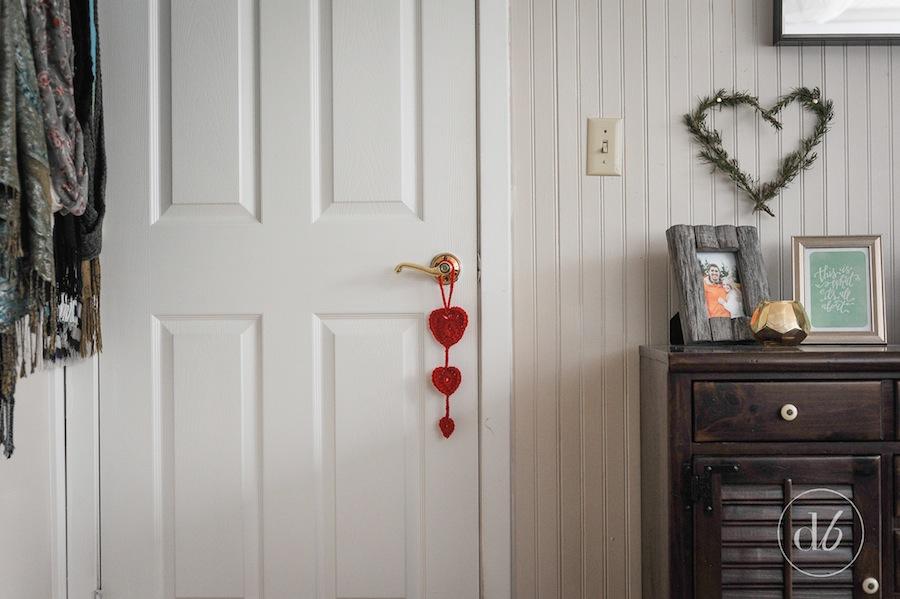 crocheted heart door hanger & Crocheted Heart Door Hanger - Dwell Beautiful