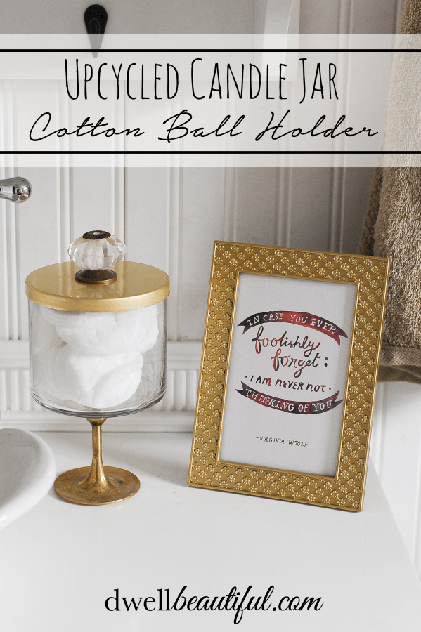 Candle Jar Craft: Cotton Ball Holder