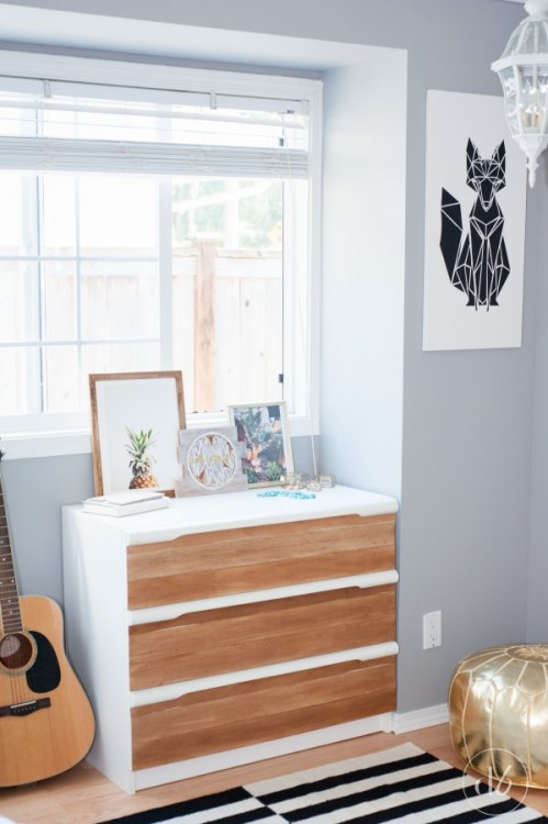balsa wood dresser update