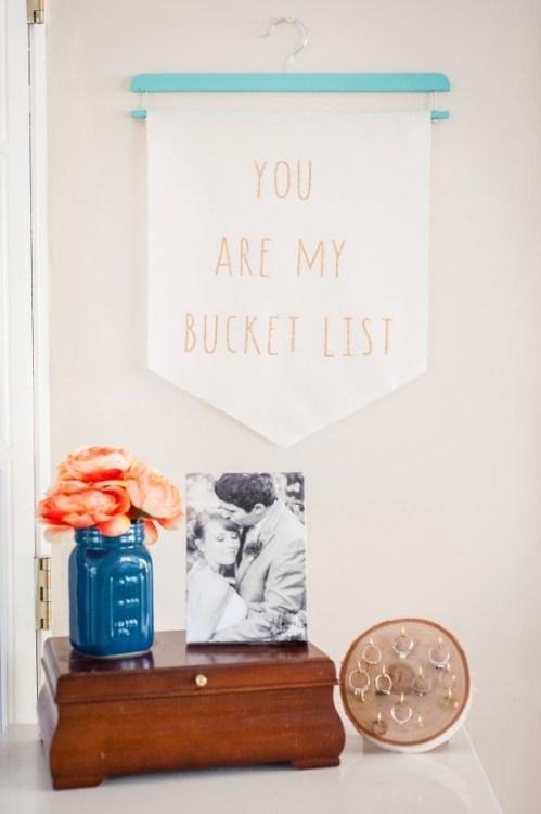 bucket list hanging wall banner