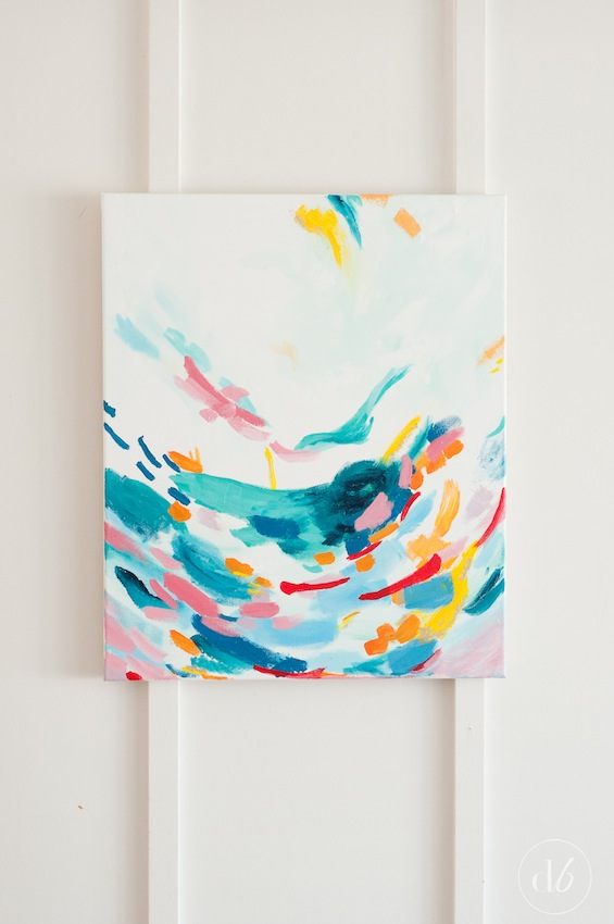 Monthly DIY Challenge: Acrylic Abstract Painting - Dwell ...