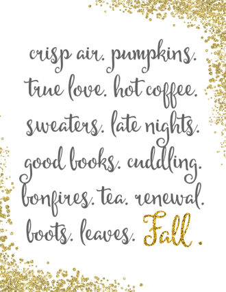 Free Fall Printable | Dwell Beautiful