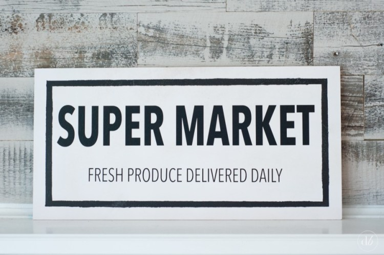 fixer upper inspired super market sign