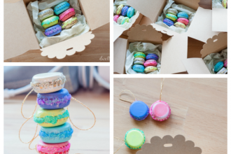 mini french macaron ornaments