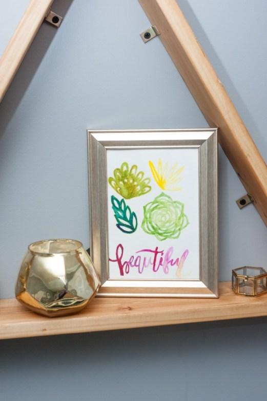 watercolor succulent art