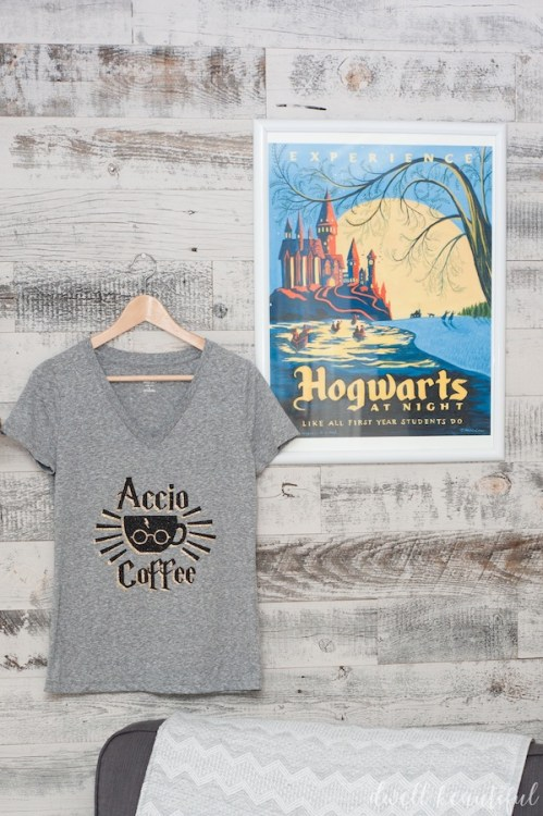 harry potter accio coffee tshirt