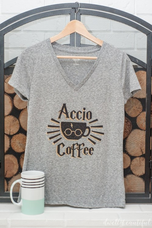 harry potter accio coffee tshirt