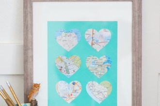 places we've been - heart map art