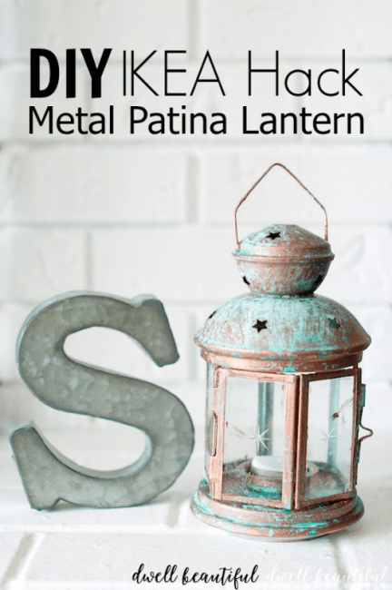 modern masters ikea hack lantern