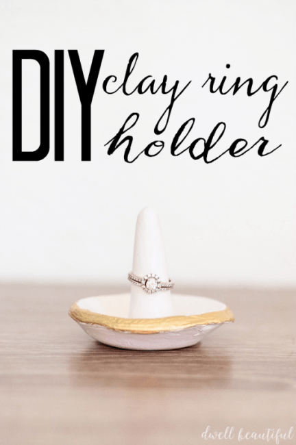 diy clay ring holder