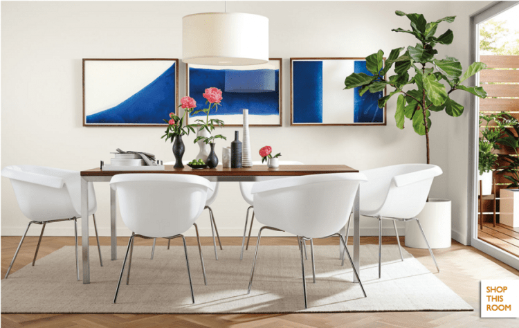 get the look for less: room and board dining room