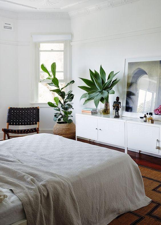 modern bohemian bedroom inspiration - lockers & Modern Bohemian Bedroom Inspiration - Dwell Beautiful