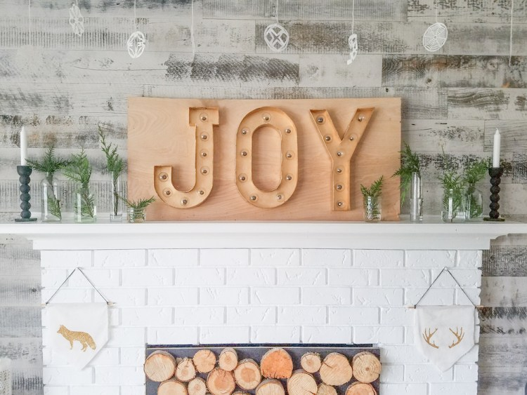 DIY Christmas Living Room