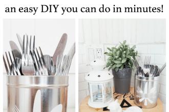 DIY Utensils Holder