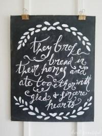 Large DIY Chalkboard Wall Art: Monthly DIY Challenge ...