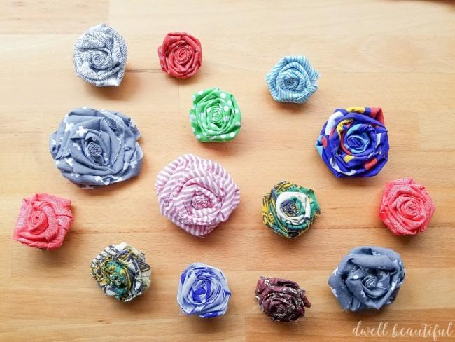 Scrap Fabric Flowers