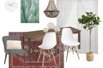 Modern Bohemian Farmhouse Dining Room Style Board