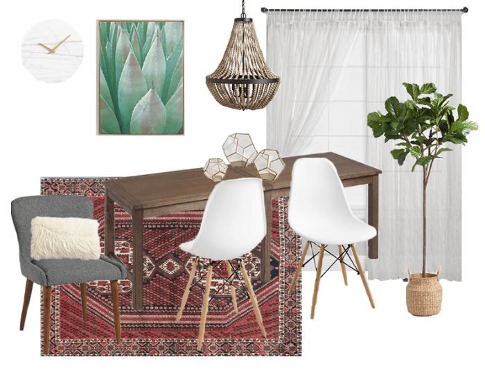Modern Bohemian Farmhouse Dining Room Style Board